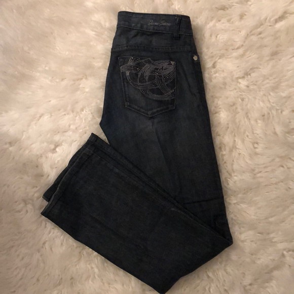 Guess Denim - Guess daredevil boot cut jeans dark blue
